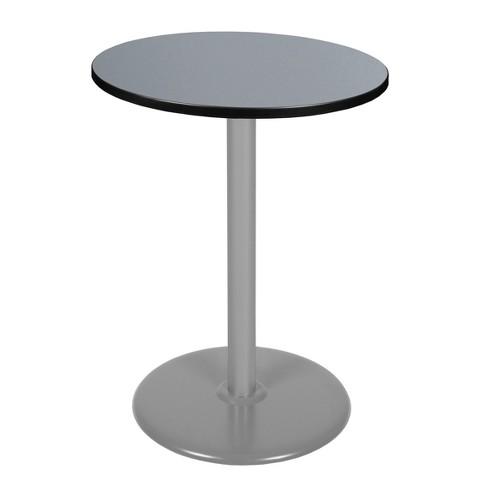 "30"" Via Cafe High Round Platter Base Bar Height Table Gray - Regency - image 1 of 3"