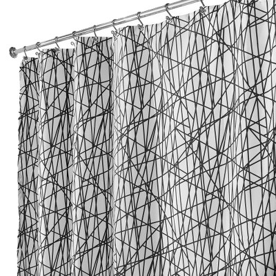InterDesign Abstract Polyester Shower Curtain - Black/White
