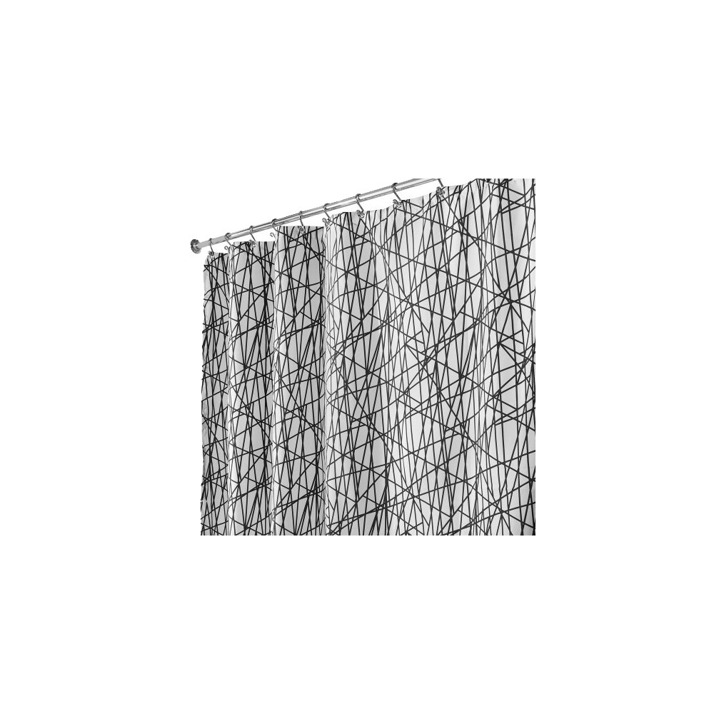 Image of InterDesign Abstract Polyester Shower Curtain - Black/White