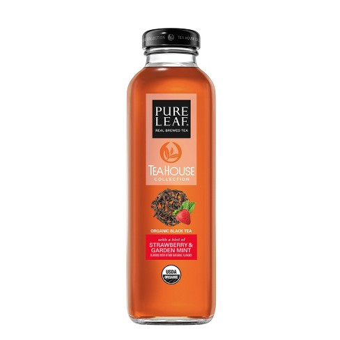 Pure Leaf Strawberry Mint - 14 fl oz Glass Bottle - image 1 of 5
