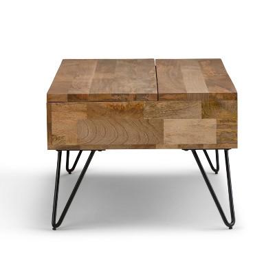 "48"" Moreno Solid Mango Wood Coffee Table - Wyndenhall : Target"