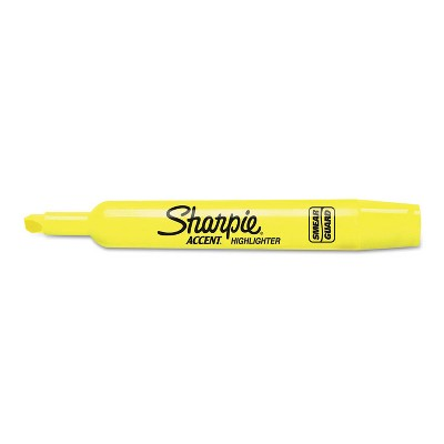 Sharpie Accent Tank Style Highlighter Chisel Tip Fluorescent Yellow 36/Box 1920938