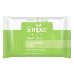 Unscented Simple Kind to Skin Cleansing Facial Wipes - 25ct