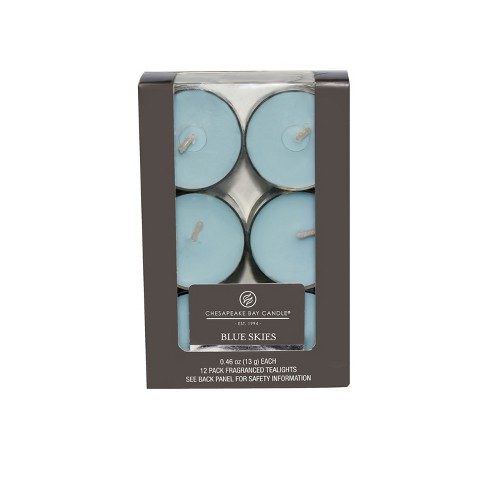 "4.6"" 12pk Tealight Candle Blue Skies - Chesapeake Bay Candle - image 1 of 1"