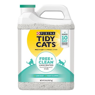 Purina Tidy Cats Free & Clean Unscented Multi-Cat Clumping Litter