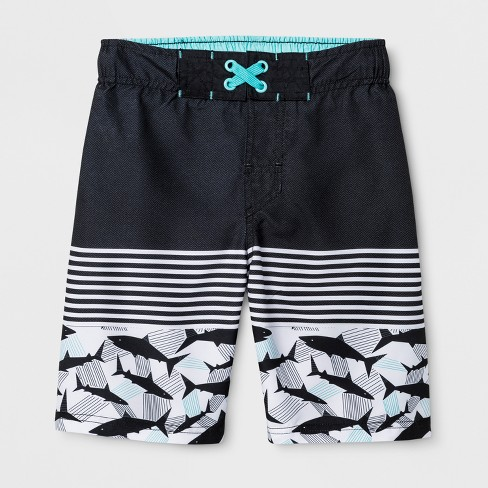 Boys' Swim Trunks - Cat & Jack™ Black - image 1 of 2