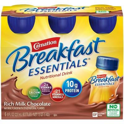 Carnation Breakfast Essentials Ready to Drink Rich Milk Chocolate - 6ct/48oz