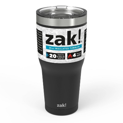 Zak! Designs 30oz Double Wall Stainless Steel Tumbler - Black
