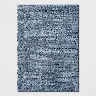 5'X7' Chunky Knit Wool Woven Rug Indigo - Project 62™