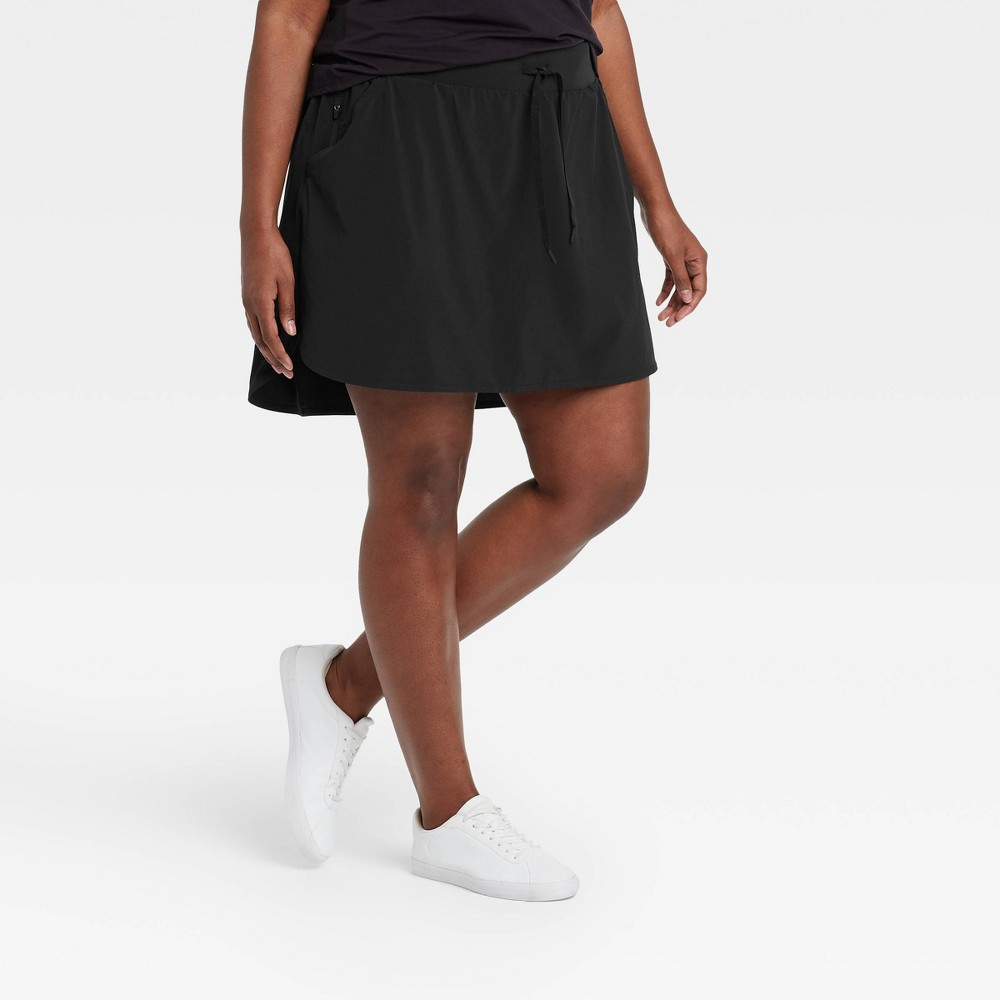 Women 39 S Plus Size Stretch Woven Skorts 18 5 34 All In Motion 8482 Black 4x
