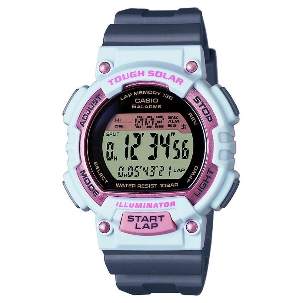 Women's Solar Runner Watch Gray - Casio, White