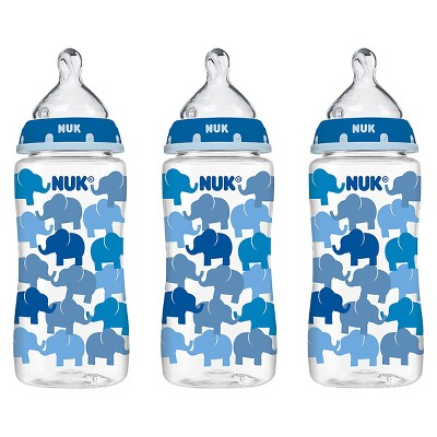 NUK Trendline 3pk 10oz Baby Bottle Set - Elephants