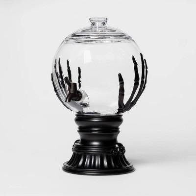 Skeleton Hands Halloween Glass Beverage Dispenser - Hyde & EEK! Boutique™