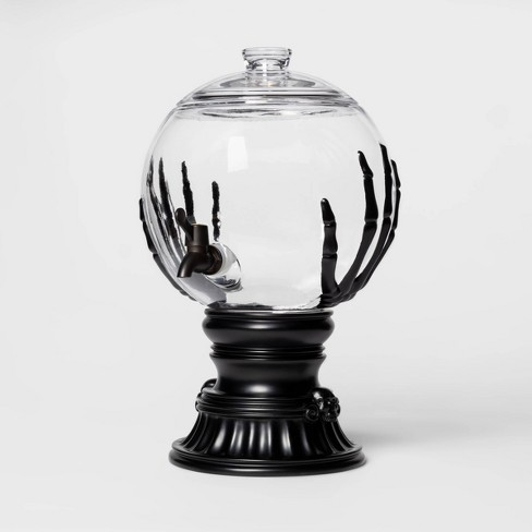 Skeleton Hands Halloween Glass Beverage Dispenser - Hyde & EEK! Boutique™ - image 1 of 2