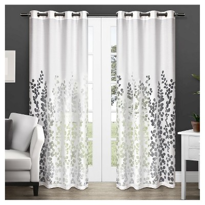 Wilshire Sheer Window Curtain Panel Pair White (54 x84 )- Exclusive Home™