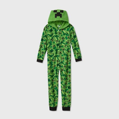 Boys' Minecraft Blanket Sleeper Sleep Shirt - Green