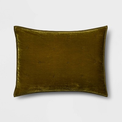 Standard Velvet Tufted Stitch Sham Moss - Opalhouse™