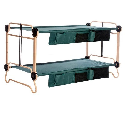 Disc-O-Bed X-Large Cam-O-Bunk Double Cot with Organizers + 7 Inch Leg Extensions