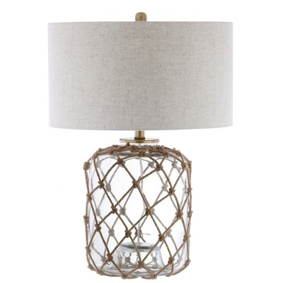 26.5  Mer Glass and Rope LED Table Lamp Brown (Includes Energy Efficient Light Bulb)- JONATHAN Y