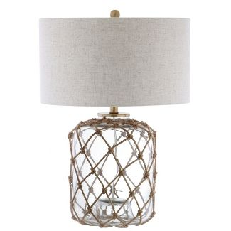 26.5u0022 Mer Glass and Rope LED Table Lamp Brown (Includes Energy Efficient Light Bulb) - JONATHAN Y