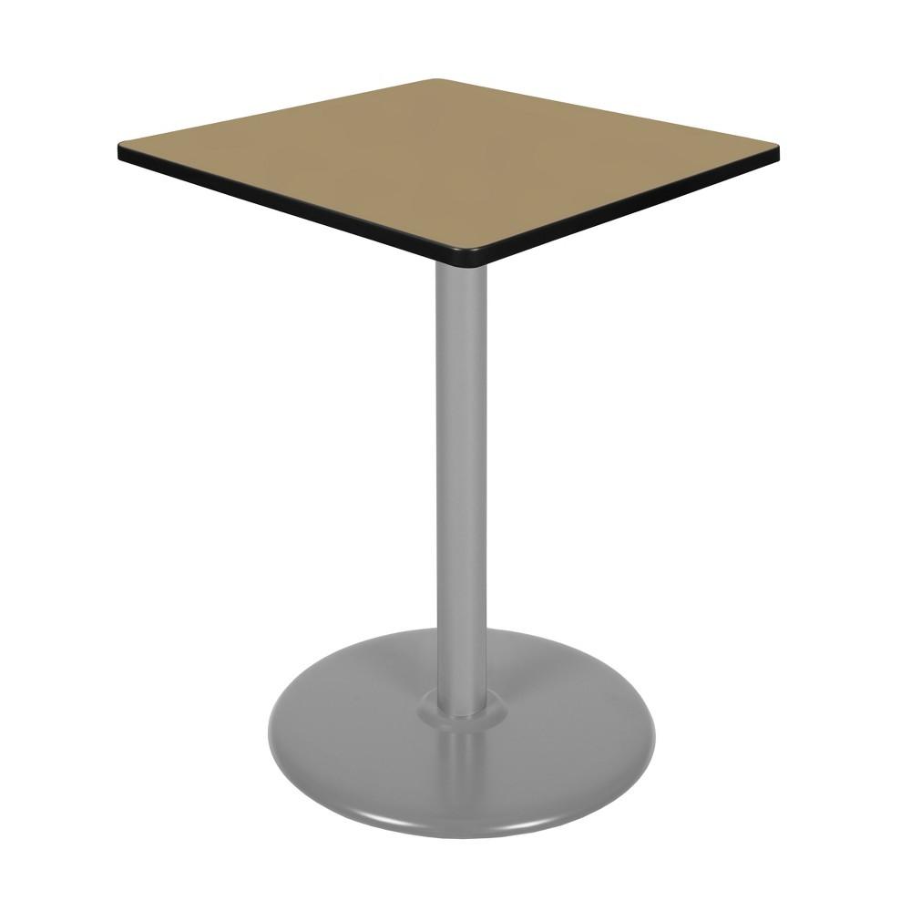 30 Via Cafe High Square Platter Base Table Gold/Gray - Regency