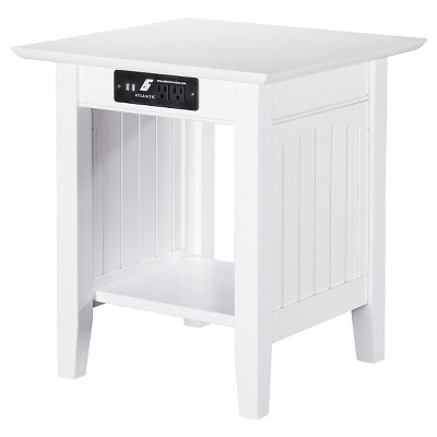 Nantucket End Table with Charger - Atlantic Furniture