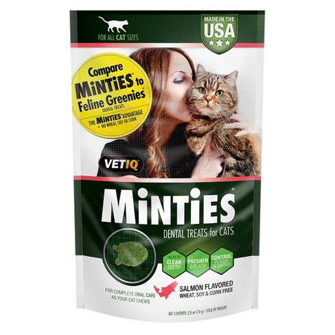 VetIQ®  Minties Salmon Flavor Dental Cat Treats 2.5oz - image 1 of 3
