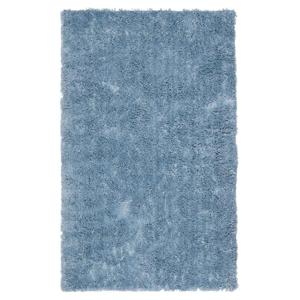Light Blue Solid Tufted Area Rug - (7'6