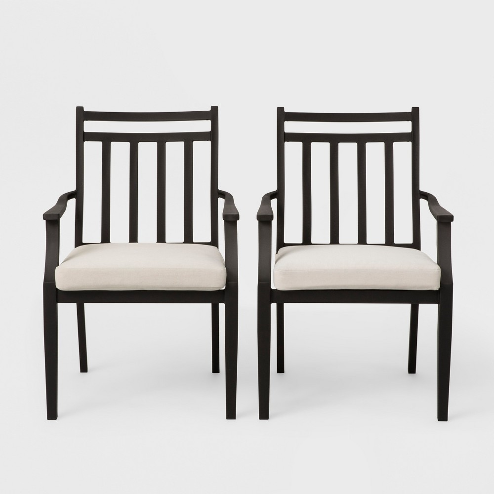 Fairmont 2pk Stationary Patio Dining Chair - Linen - Threshold was $260.0 now $130.0 (50.0% off)