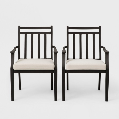 Outstanding Fairmont 2Pk Stationary Patio Dining Chair Linen Threshold Customarchery Wood Chair Design Ideas Customarcherynet