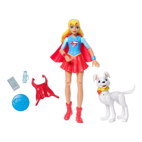 DC Super Hero Girls Supergirl Action Figure with Pet Krypto - image 1 of 6