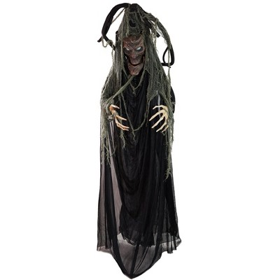 """Northlight 76"""" Black Touch Activated Lighted Tree Man Animated Halloween Decor with Sound"""