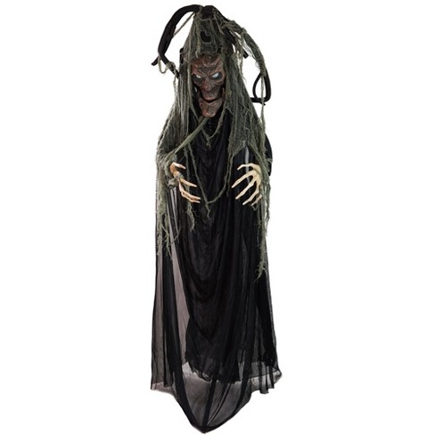 """Northlight 76"""" Black Touch Activated Lighted Tree Man Animated Halloween Decor with Sound - image 1 of 4"""