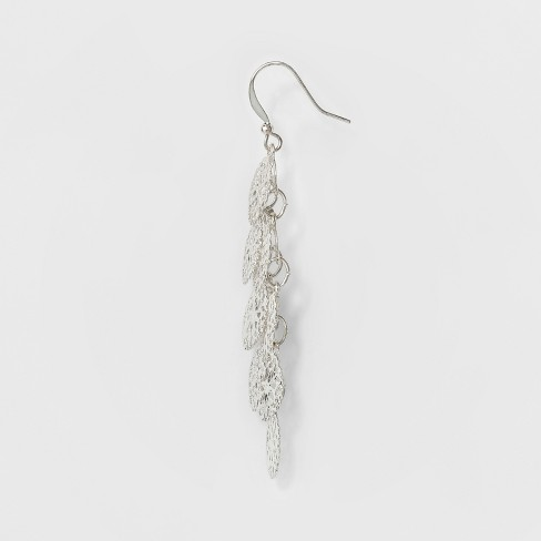 23dce2e0f81a Women s Filigree Cascading Drop Earring - A New Day™ Silver   Target