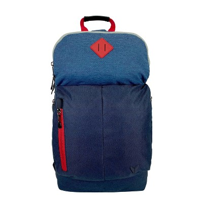 """Bondka 20.5"""" Jumpstreet Backpack - Blue/Black with Red Accent"""