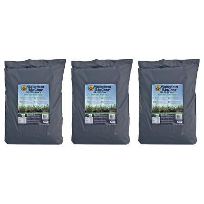 Wakefield  WFBCSC-BAG-40 1 Cu Ft Bag Premium Biochar Organic Garden Soil Conditioner (3 Pack)