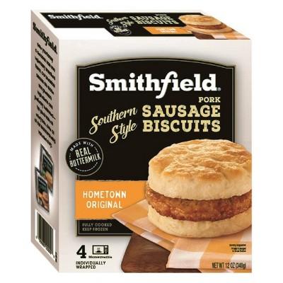 Smithfield Southern Style Pork Hometown Original Frozen Sausage Biscuits - 12oz