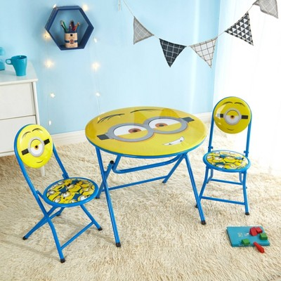 3pc Minions Table and Chair Set