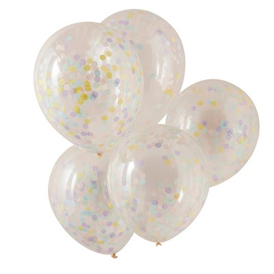Balloons with Pastel Confetti
