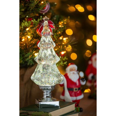 Cypress Home Led Liquid Motion Glitter Christmas Tree Table Decor