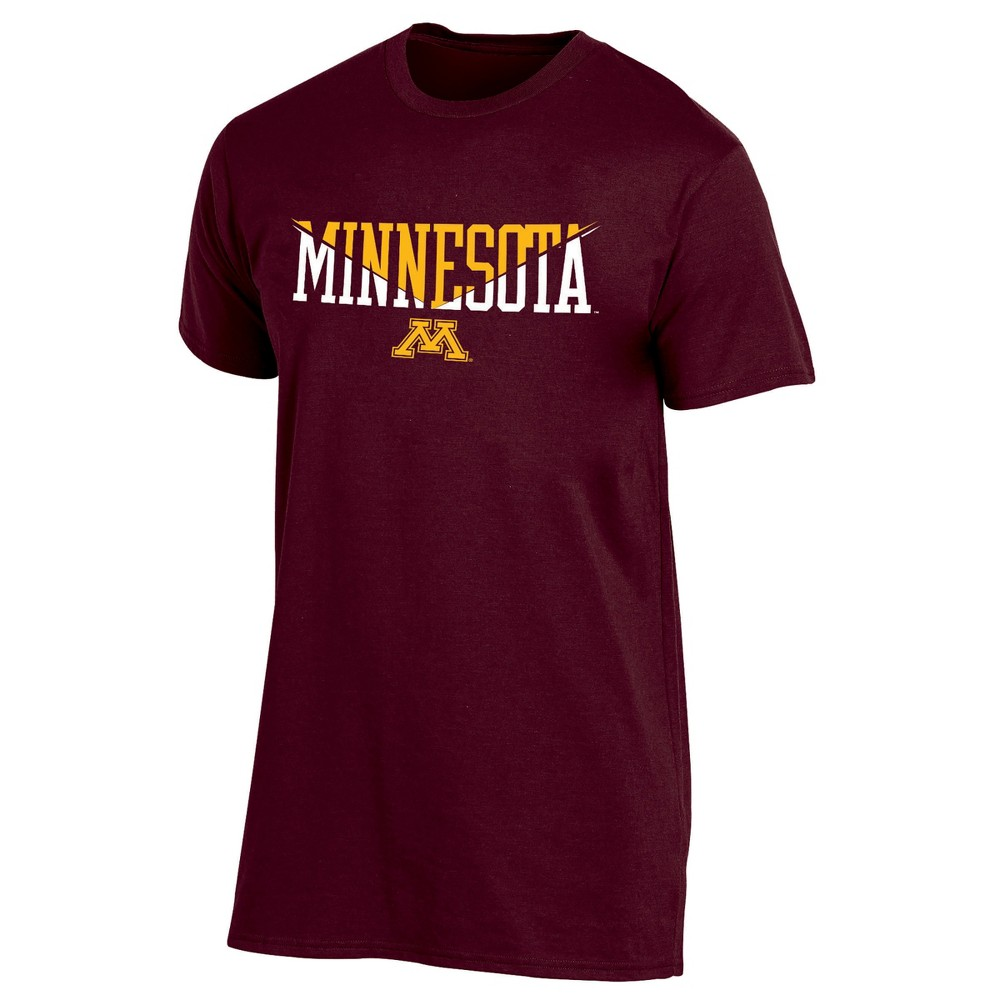 Minnesota Golden Gophers Men's Short Sleeve Core Wordmark T-Shirt - Heather Xxl, Multicolored