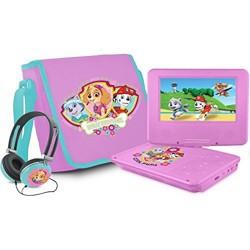 """Ematic NKGR6512 Portable DVD Player - 7"""" Display - Pink - DVD-R, CD-R - DVD Video - CD-DA, MP3"""