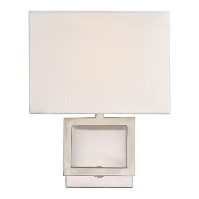 Wall Lights Sconce Brushed Nickel - Aurora Lighting