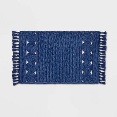 "34"" x 20"" Ornate Braided Rug Blue - Opalhouse™"