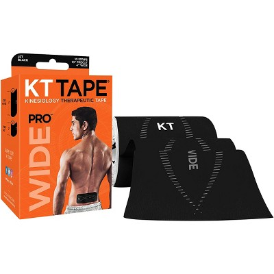 """KT Tape Pro Wide 10"""" Precut Kinesiology Therapeutic Elastic Roll - 10 Strips"""