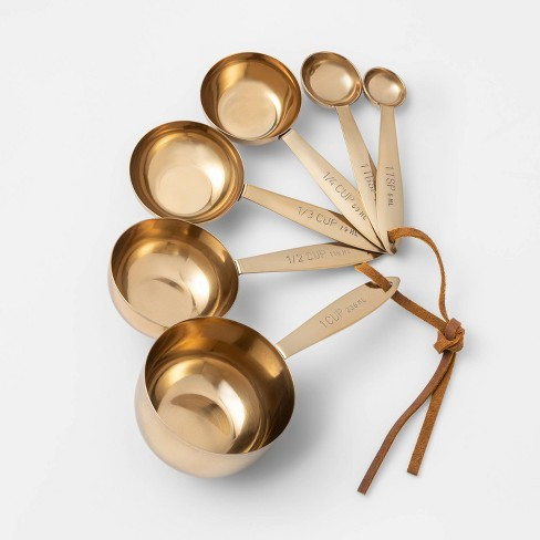 Cravings by Chrissy Teigen Stainless Steel Gold Measuring Cups - image 1 of 1