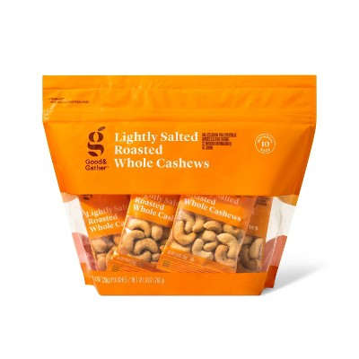 Lightly Salted Roasted Whole Cashews - 10 Ct Multipack - Good & Gather™