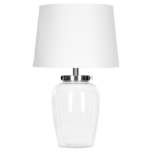 """22.5"""" Evan Fillable Glass Table Lamp Clear (Includes Energy Efficient Light Bulb) - Safavieh - image 1 of 4"""