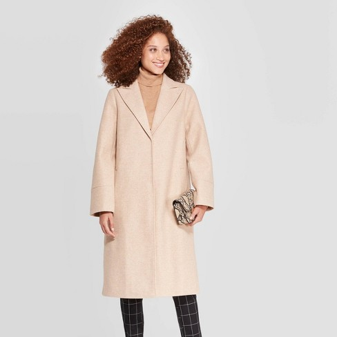 Women's Single Breasted Top Coat - A New Day™ Heather M - image 1 of 2
