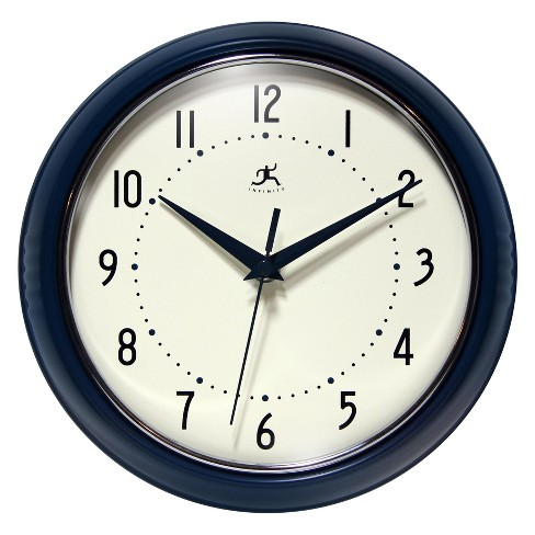 "9.5"" Round Wall Clock Blue - Infinity Instruments - image 1 of 4"